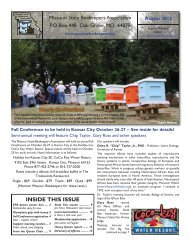 to view newsletter or right click - Missouri State Beekeepers ...