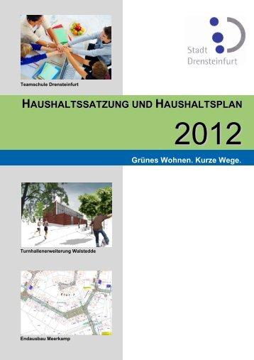 1. Einzahlungen und Auszahlungen aus Investitions ... - Drensteinfurt