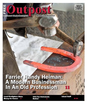 Farrier Randy Heiman: A Modern Businessman In An Old ... - Outpost