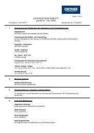 SICHERHEITSDATENBLATT gemäß 91 / 155 / EWG