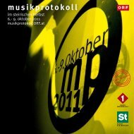 Programmheft 2011 - Musikprotokoll - Mur