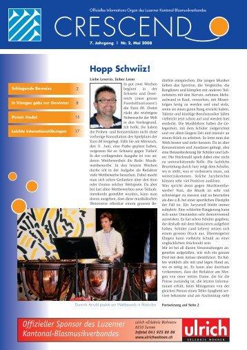Ausgabe 02/2008 - Luzerner Kantonal-Blasmusikverband