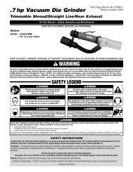 .7 hp Vacuum Die Grinder - eReplacementParts.com
