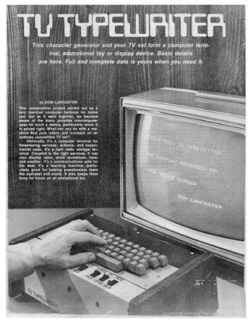 Build This TV Typewriter