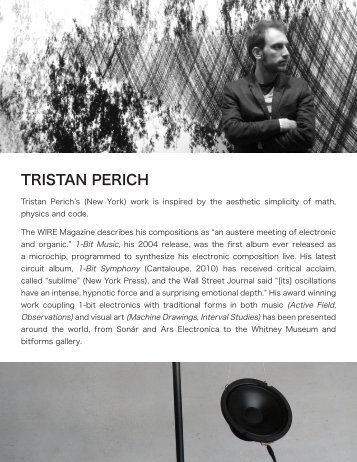 biography/resume - Tristan Perich