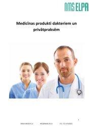 Medicīnas produkti dakteriem un privātpraksēm (PDF) - NMS Elpa
