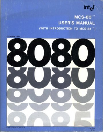 intel :: MCS80 :: 98-153D MCS-80 Users Manual