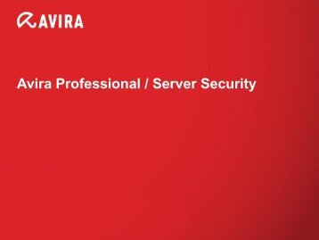 Avira Professional / Server Security - pumax.de