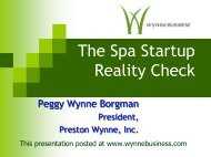 The Spa Startup Reality Check - Wynne Business