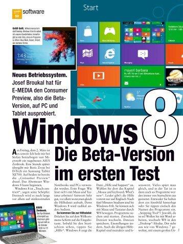 Windows 8 im Beta Test (Printversion, PDF) - Atwork