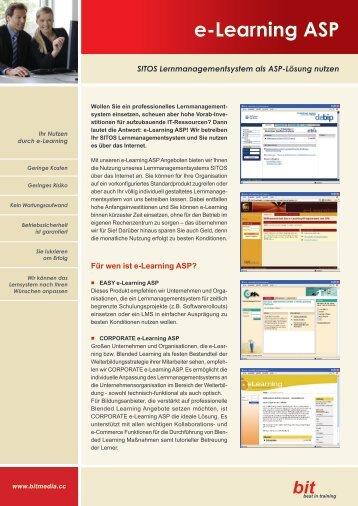 Facts zu e-Learning ASP - bit media Deutschland