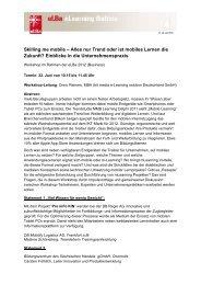 Skilling me mobile – Alles nur Trend oder ist ... - e-Learning Baltics