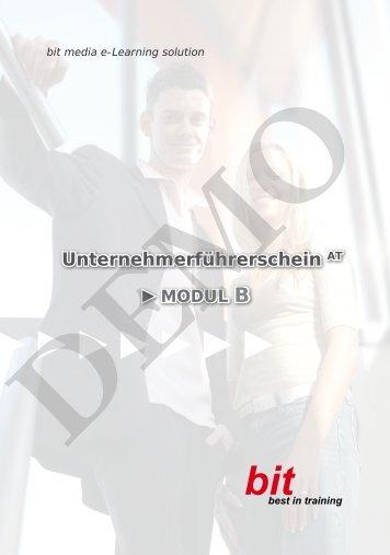 Modul B 1 - bit media Deutschland - by bit media e-Learning solution