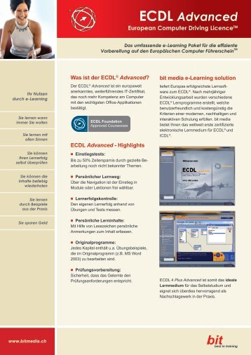 Facts zu ECDL Advanced - bit