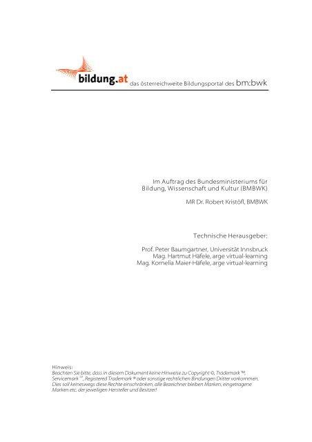 Evaluation von Learning Management Systemen - Bildung.at