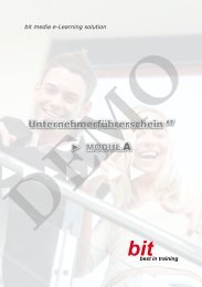 Modul A - bit media Deutschland - by bit media e-Learning solution