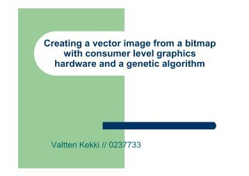 Creating a vector image from a bitmap with consumer level graphics ...
