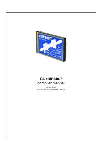 EA eDIP240-7 compiler manual - Electronic Assembly