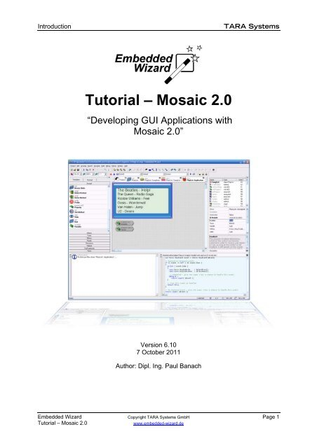 EmWi Tutorial - Mosaic 2 0 - Embedded Wizard