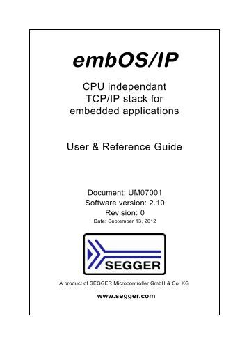embOS/IP User Guide - Segger
