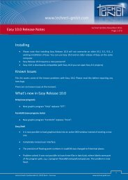 Please note that installing Easy Release 10.0 will - technet GmbH
