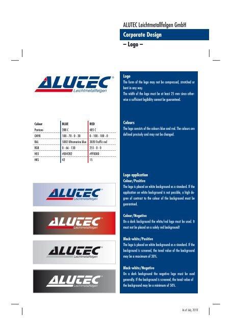 ALUTEC Leichtmetallfelgen GmbH Corporate Design – Logo –
