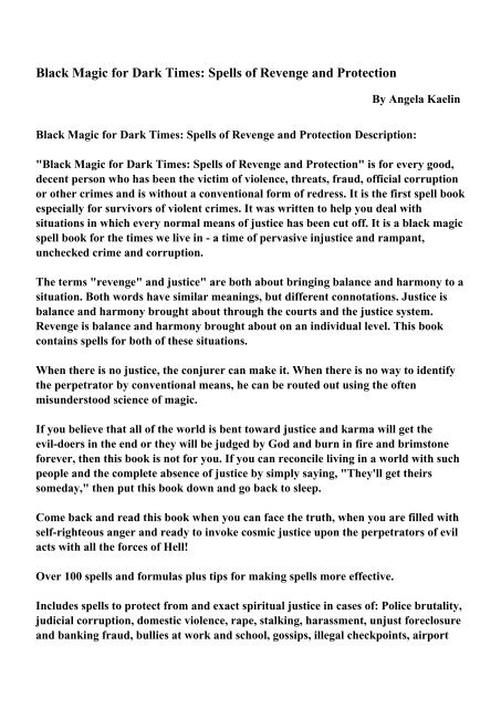 Black Magic For Dark Times Pdf Ebooks Free Download