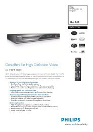 Datenblatt DVDR3575H - Philips