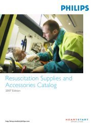 Resuscitation Supplies and Accessories Catalog - Philips