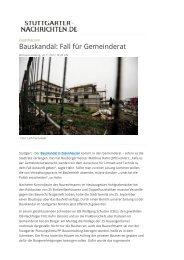 Bauskandal: Fall für Gemeinderat
