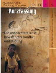 Die unbeachtete Krise: Bewaffneter Konflikt und Bildung - UNESCO ...