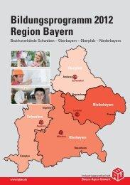 Bildungsprogramm 2012 Region Bayern - IG Bau Oberbayern