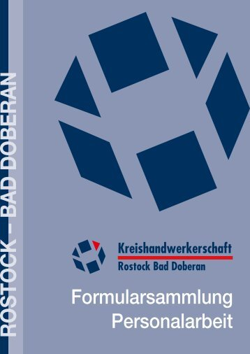 Formularsammlung Personalarbeit - Kreishandwerkerschaft Rostock ...