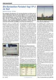 Die Kurzwellen-Portabel-Yagi YP-3 im Test