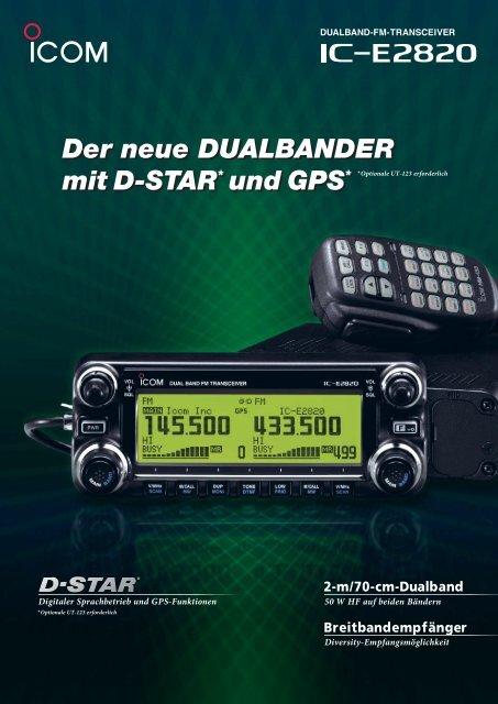 Der neue DUALBANDER mit D-STAR* und GPS* Der neue ...