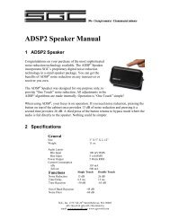 ADSP2 Speaker Manual