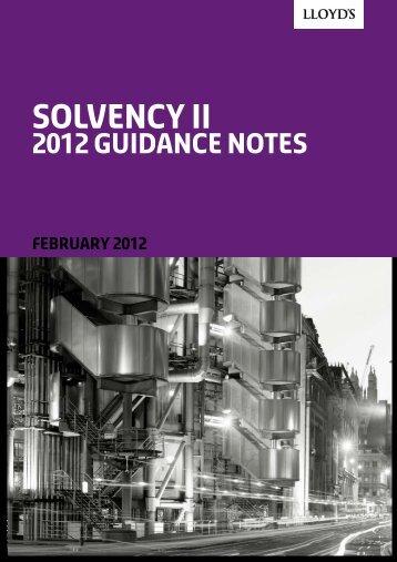 Solvency II - Lloyd's
