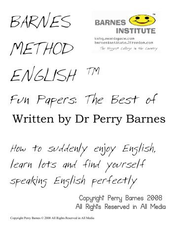Barnes Method English @ Fun Papers Best of - Blogs