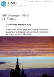 Mitteilungen DMG 01  / 2011 - Deutsche Meteorologische ...