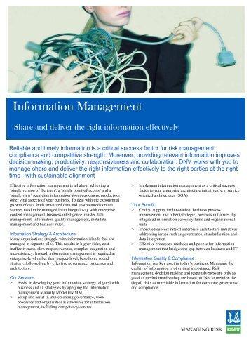 Information Management v0.2 - DNV Germany