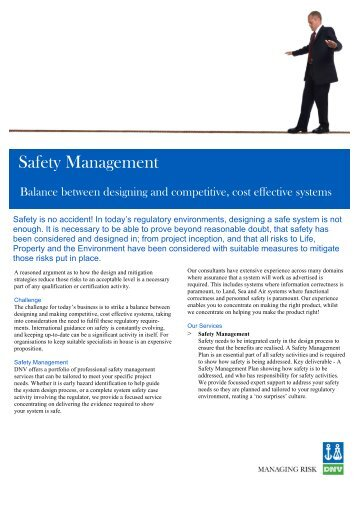 Safety Management v0.1 - DNV Germany