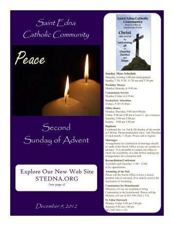 Second Sunday of Advent - St. Edna Catholic Church