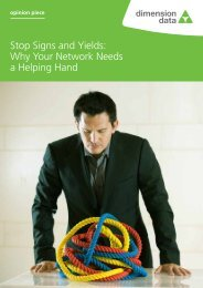 Stop Signs and Yields: Why Your Network Needs ... - Dimension Data