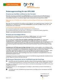 OPS-Vorschlag Änderungsvorschlag für den OPS 2009 - DIMDI