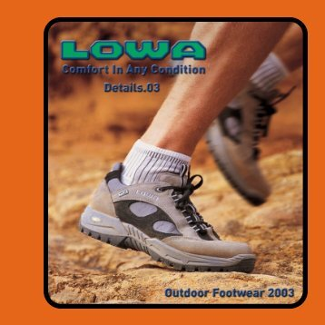 Table Of Contents - Lowa Boots
