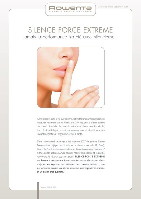 SILENCE FORCE EXTREME Jamais la performance n a été aussi