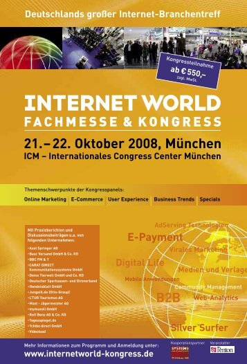 Programm Internet World Kongress - Deine Tierwelt