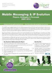 mobile messaging report brochure - Juniper Research