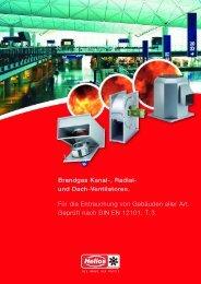 Brandgas Kanal-, Radial- und Dach-Ventilatoren. Für die ...