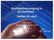 Programm Breitbandversorgung in Deutschland - Access and Home